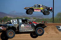 Apr 16, 2011; Surprise, AZ USA; LOORRS driver Todd Leduc (4) during round 3 at Speedworld Off Road Park. Mandatory Credit: Mark J. Rebilas-.
