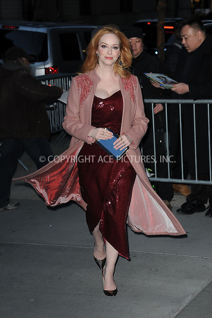 WWW.ACEPIXS.COM<br /> March 22, 2015 New York City<br /> <br /> Christina Hendricks attending the 'Mad Men' New York Special Screening at The Museum of Modern Art on March 22, 2015 in New York City.<br /> <br /> Please byline: Kristin Callahan/AcePictures<br /> <br /> ACEPIXS.COM<br /> <br /> Tel: (646) 769 0430<br /> e-mail: info@acepixs.com<br /> web: http://www.acepixs.com