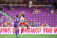 Orlando, FL - Saturday August 05, 2017: Ali Krieger, Sofia Huerta during a regular season National Women's Soccer League (NWSL) match between the Orlando Pride and the Chicago Red Stars at Orlando City Stadium.