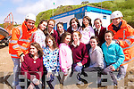 Team building: Enjoying the JSAR event in Ballybunion on Friday were pupils of St Joseph's Primary School Ballybunion front l-r Agnes Hitchen, Molly Buckley, Maria Clancey, Maeve Ferriter, Shauna Breen and Orla Holly. Back l-r Lauren Mooney, Breda Horgan, Michelle Boyle, Katie Buckley, Moireann Beasley and Colleen Simpson with IT Tralee Health and Leisure students Paul O'Riordan and Amy Cooney.