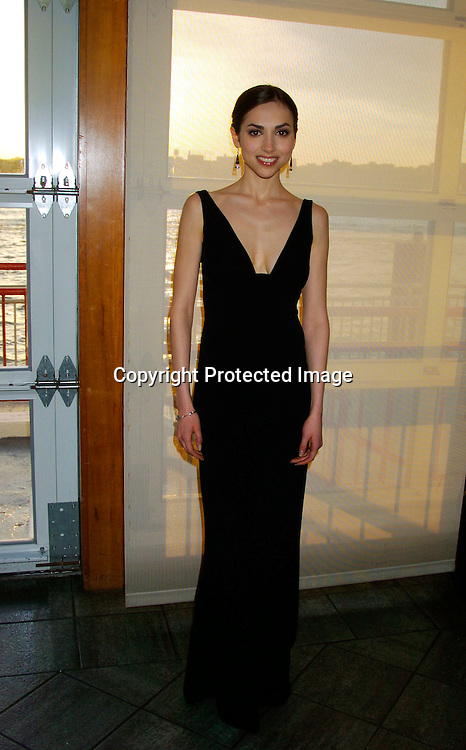 Eden Riegel in Tahari dress..at the Arthur Ashe Institute for Urban Health Sportsball 2004 on April 29, 2004 at PIer Sixty at Chelsea PIers. ..People were told to wear Blcak tie and sneakers. ..Photo by Robin Platzer, Twin Images