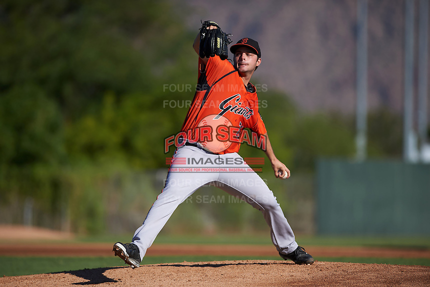 San Francisco Giants pitcher Andrew Suarez (71) during an instructional league game against the Kansas City Royals on October 23, 2015 at the Papago Baseball Facility in Phoenix, Arizona.  (Mike Janes/Four Seam Images)