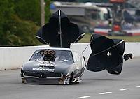 May 15, 2015; Commerce, GA, USA; NHRA pro mod driver Danny Rowe  during qualifying for the Southern Nationals at Atlanta Dragway. Mandatory Credit: Mark J. Rebilas-USA TODAY Sports