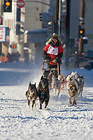 Musher Bob Clupach, 2007 Open North American Championship sled dog race (the world's premier sled dog sprint race) is held annually in Fairbanks, Alaska.