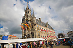 Historic Gothic town hall Gouda , South Holland, Netherlands,