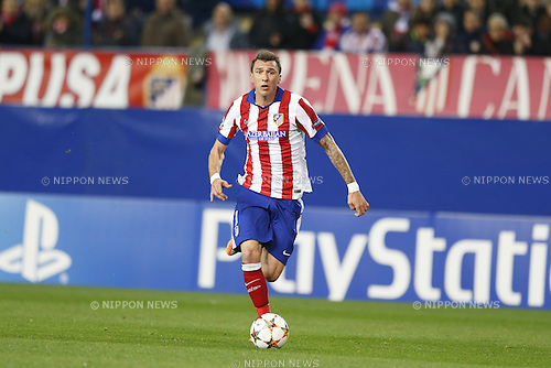 Mario Mandzukic (Atletico), NOVEMBER 26, 2014 - Football / Soccer : UEFA Champions League Group A match between Club Atletico de Madrid 4-0 Olympiacos FC at the Vicente Calderon Stadium in Madrid, Spain. (Photo by Mutsu Kawamori/AFLO) [3604