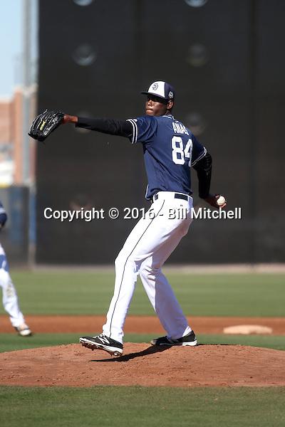Martires Arias - San Diego Padres 2016 spring training (Bill Mitchell)