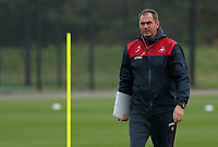 Manager Paul Clement walks on the pitch during the Swansea City Training at The Fairwood Training Ground, Swansea, Wales, UK. Wednesday 27 September 2017