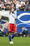 19.05.2019,  GER; 2. FBL, Hamburger SV vs MSV Duisburg ,DFL REGULATIONS PROHIBIT ANY USE OF PHOTOGRAPHS AS IMAGE SEQUENCES AND/OR QUASI-VIDEO, im Bild Manuel Wintzheimer (Hamburg #02) schiesst das 2-0 fuer Hamburg vorbei an Torhueter Daniel Mesenhoeler (Mesenhöler Duisburg #27) und jubelt Foto © nordphoto / Witke *** Local Caption ***