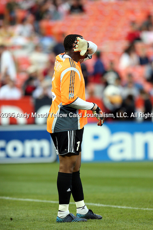 21 May 2005: Bo Oshoniyi. DC United defeated the Kansas City Wizards 3-2 at RFK Stadium in Washington, DC in a regular season Major League Soccer game. . .