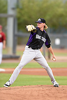 Colorado Rockies pitcher Sam Howard (67) during an Instructional League game against the Arizona Diamondbacks on October 8, 2014 at Salt River Fields at Talking Stick in Scottsdale, Arizona.  (Mike Janes/Four Seam Images)