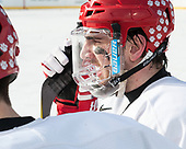 John MacLeod (BU - 16) - The Boston University Terriers practiced on the rink at Fenway Park on Friday, January 6, 2017.The Boston University Terriers practiced on the rink at Fenway Park on Friday, January 6, 2017.
