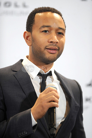 John Legend at the 26th annual Rock and Roll Hall of Fame Induction Ceremony at The Waldorf=Astoria  in New York City. March 14, 2011. Credit: Dennis Van Tine/MediaPunch