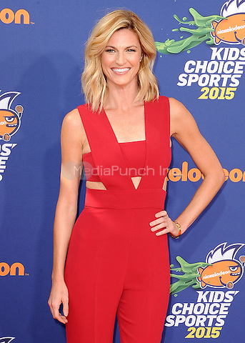 LOS ANGELES, CA - JULY 16:  Erin Andrews at the Nickelodeon Kids Choice Sports 2015 at the Pauley Pavilion on July 16, 2015 in Los Angeles, California. Credit: PGSK/MediaPunch