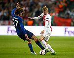 Marouane Fellaini of Manchester United tackles Matthijs de Ligt of Ajax during the UEFA Europa League Final match at the Friends Arena, Stockholm. Picture date: May 24th, 2017.Picture credit should read: Matt McNulty/Sportimage