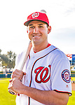 28 February 2016: Washington Nationals infielder Ryan Zimmerman poses for his Spring Training Photo-Day portrait at Space Coast Stadium in Viera, Florida. Mandatory Credit: Ed Wolfstein Photo *** RAW (NEF) Image File Available ***