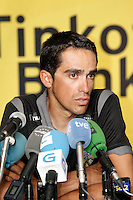 Alberto Contador in press conference during the rest day of La Vuelta 2012.August 27,2012. (ALTERPHOTOS/Acero) /NortePhoto.com<br />