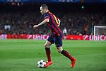 UEFA Champions League 2013/2014.<br /> Quarter-finals 1st leg.<br /> FC Barcelona vs Club Atletico de Madrid: 1-1.<br /> Andres Iniesta.