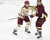 Haley Skarupa (BC - 22), Emma Stauber (UMD - 7) -  - The visiting University of Minnesota Duluth Bulldogs defeated the Boston College Eagles 3-2 on Thursday, October 25, 2012, at Kelley Rink in Conte Forum in Chestnut Hill, Massachusetts.