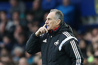 Swansea City Head Coach Francesco Guidolin during the Barclays Premier League match between Everton and Swansea City played at Goodison Park, Liverpool