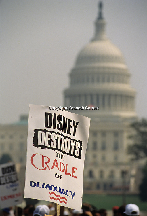 Protest on Washington, Disney Destroys Cradle of Democracy