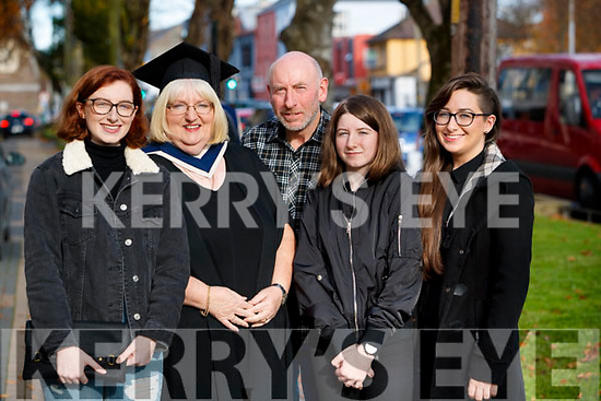 Anne Kerrisk, Firies, Killarney, who graduated in Business and Accounting from IT Tralee, at the Brandon Conference Centre, Tralee on Friday morning last, pictured here with her family Aine, Jerome Elaine and Debra Kerrisk.