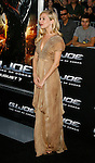 "HOLLYWOOD, CA. - August 06: Sienna Miller arrives at a special screening of ""G.I. Joe: The Rise Of The Cobra"" on August 6, 2009 in Hollywood, California."