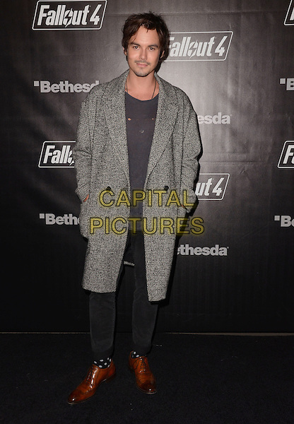 05 November - Los Angeles, Ca - Tyler Blackburn. Arrivals for the official launch party of the video game &quot;Fallout 4&quot; held at a private location in Downtown LA.  <br /> CAP/ADM/BT<br /> &copy;BT/ADM/Capital Pictures