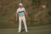 Andrew Dodt (AUS) in action on the 18th during Round 1 of the Hero Indian Open at the DLF Golf and Country Club on Thursday 8th March 2018.<br /> Picture:  Thos Caffrey / www.golffile.ie<br /> <br /> All photo usage must carry mandatory copyright credit (&copy; Golffile | Thos Caffrey)