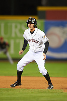 Erie Seawolves pinch runner Josh Prince (17) leads off first during a game against the Richmond Flying Squirrels on May 19, 2015 at Jerry Uht Park in Erie, Pennsylvania.  Richmond defeated Erie 8-5.  (Mike Janes/Four Seam Images)