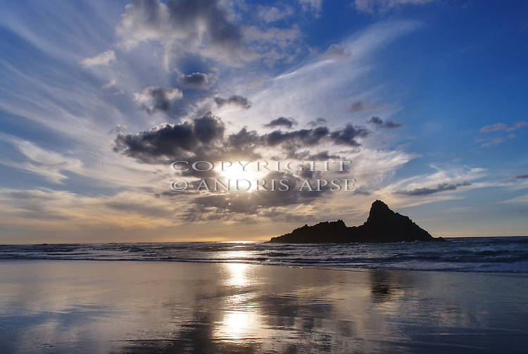 Karekare Beach, Auckland Region. New Zealand.