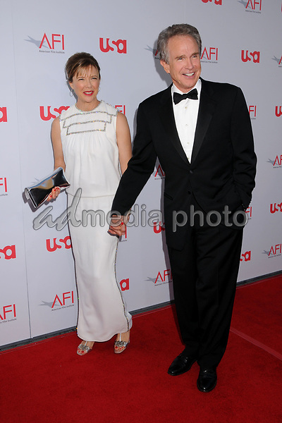 12 June 2008 - Hollywood, California - Annette Bening and Warren Beatty. 36th Annual AFI Life Achievement Award at the Kodak Theatre. Photo Credit: Byron Purvis/AdMedia