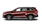 Car Driver side profile view of a 2018 Toyota Highlander SE 5 Door SUV Side View
