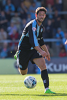 Joe Jacobson of Wycombe Wanderers in action during the Sky Bet League 2 match between Wycombe Wanderers and Plymouth Argyle at Adams Park, High Wycombe, England on 12 September 2015. Photo by Andy Rowland.
