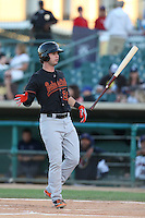 Jesse Winkler #23 of the Bakersfield Blaze bats against the Lancaster JetHawks at The Hanger on May 13, 2014 in Lancaster California. Lancaster defeated Bakersfield, 1-0. (Larry Goren/Four Seam Images)