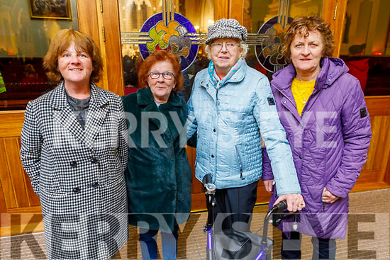Bernie Hogan and Pat Ward (Castleisland), Patsie Quirke (Derrymore Tralee) and Eimear Hogan (Tralee) attending the monthly devotions to Padre Pio in Saints Stephen and John's Church in Castleisland on Tuesday.