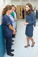 12 June 2017 - Princess Kate, Duchess of Cambridge and Team Leader Ellen and Dr Mark Haden at Kings College Hospital in south London to meet staff and patients who were affected by the terrorist attacks in London Bridge and Borough Market London. Photo Credit: ALPR/AdMedia