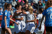 Bridgeview, IL - Saturday April 20, 2019: 2019 NWSL regular season home opener between the Chicago Red Stars and the Portland Thorns FC at SeatGeek Stadium.