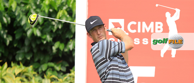 Kevin Chappell (USA) on the 5th tee during Round 4 of the CIMB Classic in the Kuala Lumpur Golf &amp; Country Club on Sunday 2nd November 2014.<br /> Picture:  Thos Caffrey / www.golffile.ie