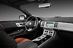 Passenger side dashboard view of a 2012 Jaguar XF Portfolio