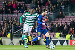 Lionel Andres Messi (r) of FC Barcelona fights for the ball with William Carvalho of Sporting CP during the UEFA Champions League 2017-18 match between FC Barcelona and Sporting CP at Camp Nou on 05 December 2017 in Barcelona, Spain. Photo by Vicens Gimenez / Power Sport Images