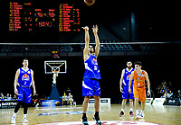 Shea Ili shoots a penalty during the national basketball league final  between Wellington Saints and Southland Sharks at TSB Bank Arena in Wellington, New Zealand on Sunday, 5 August 2018. Photo: Dave Lintott / lintottphoto.co.nz