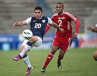 PUEBLA -Mexico, March 1, 2013: The U.S. Under-20 Men's National Team advanced to the title match of the 2013 CONCACAF U-20 Championship with a 2-0 victory against Cuba at Estadio Cuauhtémoc. Mario Rodriguez and Daniel Cuevas scored three minutes apart and Cody Cropper recorded his second shutout of the tournament in putting the U.S. through to the final.