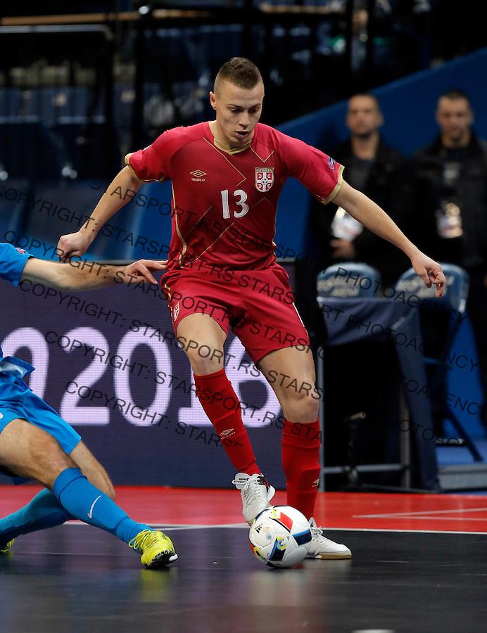 Milos Stojkovic UEFA Euro 2016 Futsal Evropsko Prvenstvo, Srbija - Slovenija 2.2.1016. Februar 2. 2016. (credit image & photo: Pedja Milosavljevic / STARSPORT)