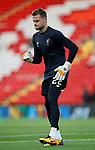 Simon Mingolet of Liverpool warms up during the Champions League Group E match at the Anfield Stadium, Liverpool. Picture date 13th September 2017. Picture credit should read: Simon Bellis/Sportimage