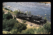 D&amp;RGW #488 along Animas River in the Durango area.<br /> D&amp;RGW  Durango area, CO