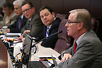 Nevada Sen. David Parks, D-Las Vegas, works in committee at the Legislative Building in Carson City, Nev., on Thursday, Feb. 12, 2015. <br /> Photo by Cathleen Allison