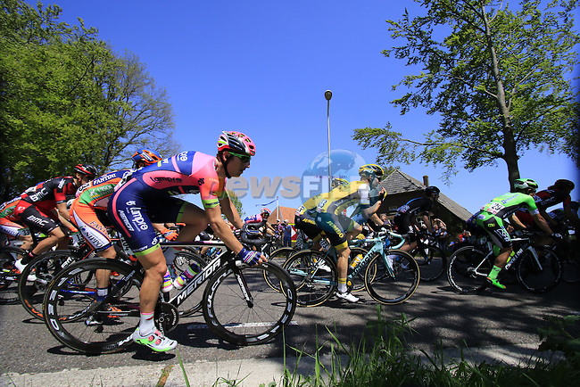 The peloton, including Sacha Modolo (ITA) Lampre-Merida, in action during Stage 3 of the 2016 Giro d'Italia running 190km from Nijmegen to Arnhem, The Nethrerlands. 8th May 2016.<br /> Picture: Eoin Clarke | Newsfile<br /> <br /> <br /> All photos usage must carry mandatory copyright credit (&copy; Newsfile | Eoin Clarke)