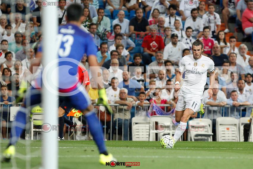 Real Madrid´s Gareth Bale during La Liga match at Santiago Bernabeu stadium in Madrid, Spain. August 29, 2015. (ALTERPHOTOS/Victor Blanco)