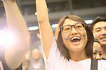 Public Viewing, SEPTEMBER 8, 2013 : People celebrate after Tokyo won the bid to host the 2020 Summer Olympic Games at Komazawa Gymnasium, Tokyo Japan on Sunday September 8, 2013. (Photo by AFLO SPORT) [1156]